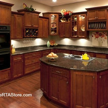 Shaker Cabernet Cabinets - There are many ways to use our ...