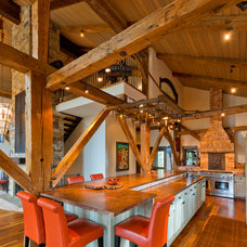 Traditional Kitchen by HeritageBarns.com