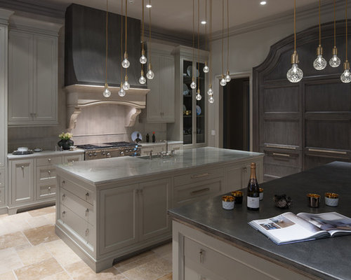 Pewter countertops design ideas remodel pictures houzz for Building traditional kitchen cabinets by jim tolpin