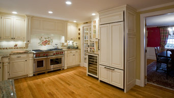 Traditional kitchen with a pantry