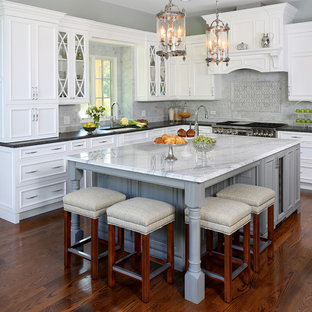Traditional Kitchen with a Touch of Glamour