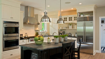 Traditional Kitchen with Antique White Cabinets