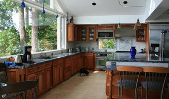 Traditional Kitchen with Blue Accents
