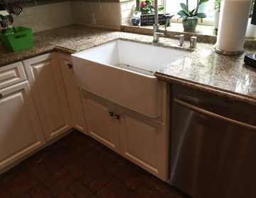 Traditional Kitchen with Farmhouse Sink