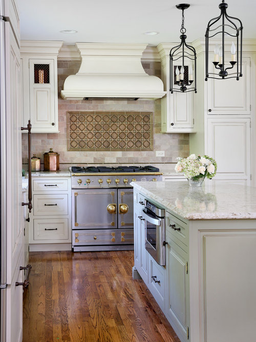 Bronze Kitchen Canisters >> Traditional Kitchen with Mixed Metal Finishes