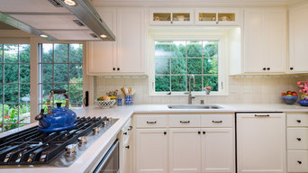 Traditional Kitchen with Painted Reverse Paneled Doors
