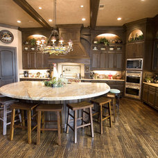 Traditional Kitchen by Texas Wood Mill Cabinets Inc