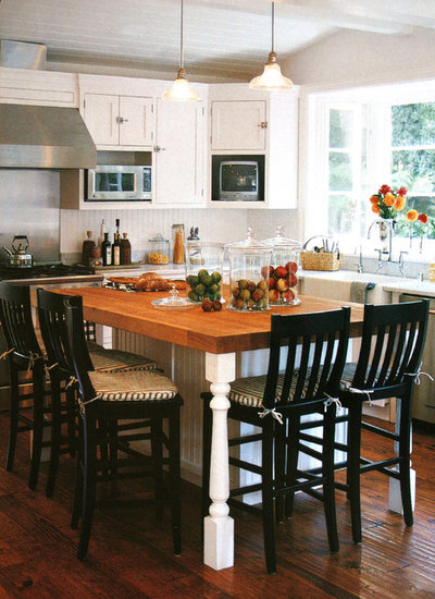 take a seat at the new kitchen table island