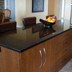 BLACK GALAXY GRANITE - Traditional - Kitchen - Charlotte - by Fireplace & Granite Distributors
