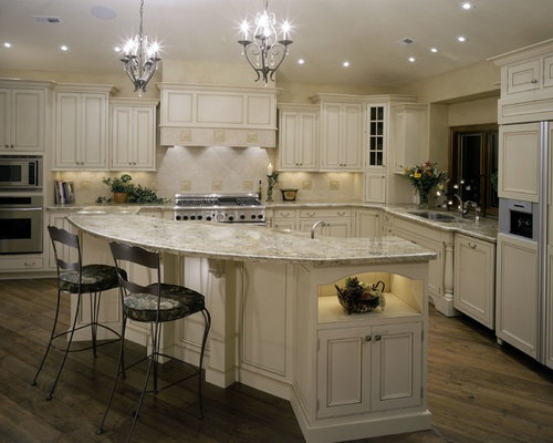 Glazed White Cabinets Home Design Ideas, Pictures, Remodel and Decor