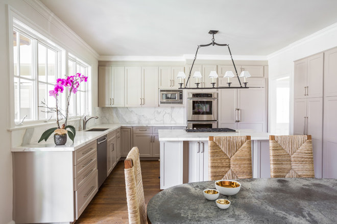 Transitional Kitchen by Marie Flanigan Interiors