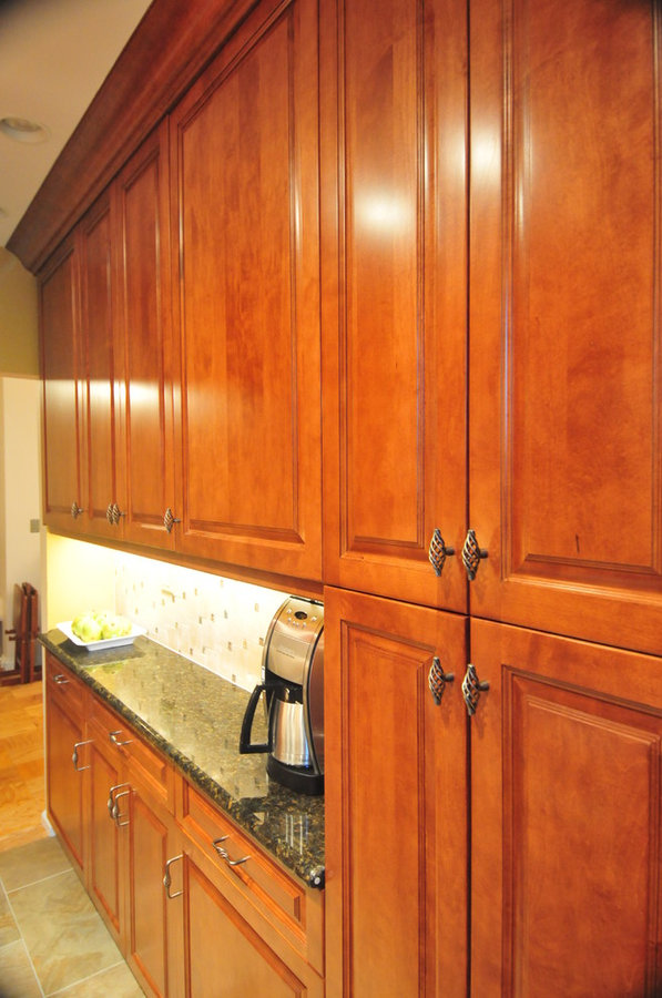 Traditional Raised-Panel Maple Kitchen