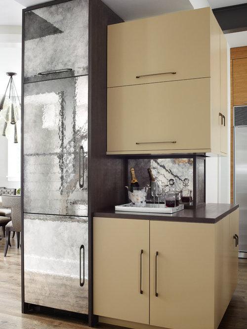 antique mirror kitchen cabinets | houzz