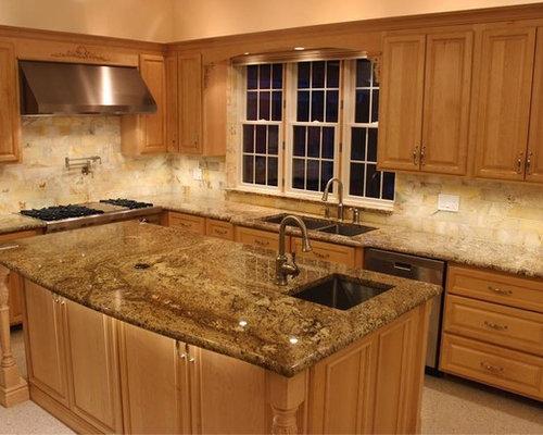 cuisine avec un plan de travail en granite et sol en terrazzo photos et id es d co de cuisines. Black Bedroom Furniture Sets. Home Design Ideas