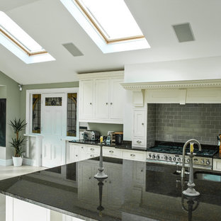 Traditional Style Kitchen with Marble Top Island in Liverpool