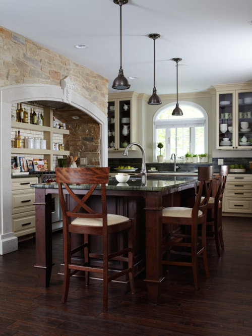Rustic kitchen design ideas renovations photos with for Rustic yellow kitchen