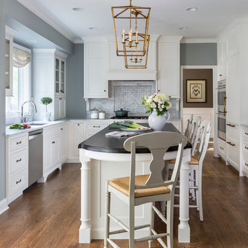 Traditional White Kitchen - Eagan