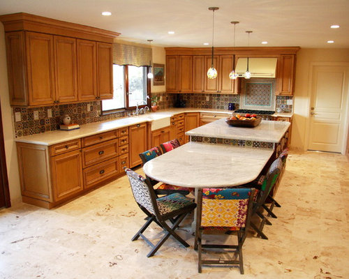 Two Level Kitchen Island Houzz
