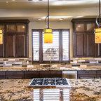 Ceiling Trellis over custom kitchen - Southwestern - Kitchen - Albuquerque - by Palo Santo ...