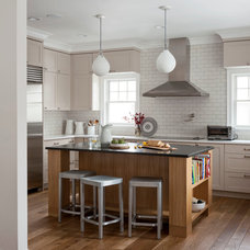 Transitional Kitchen by indi interiors