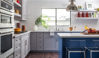 Transitional Colorful Kitchen