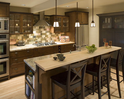 2 tier kitchen island two tier kitchen island houzz 15544