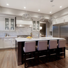Transitional Kitchen by Capstone Custom Homes