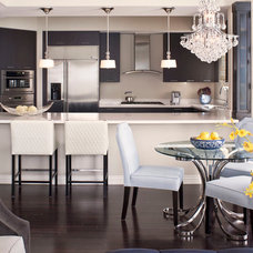 transitional kitchen by Jeneration Interiors