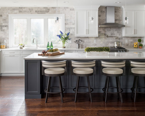 kitchen design ideas white cabinets. Large Transitional Eat In Kitchen Remodeling  Inspiration For A Large L Shaped 25 Best White Kitchen Ideas Designs Remodeling Pictures Houzz