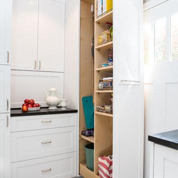 Transitional Farmhouse Kitchen Pantry