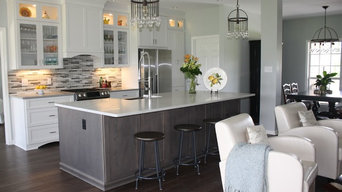 Transitional Grey Kitchen & Bath