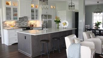 Transitional Grey Kitchen & Bath