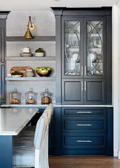 Transitional Kitchen by Sarah St. Amand Interior Design, Inc.