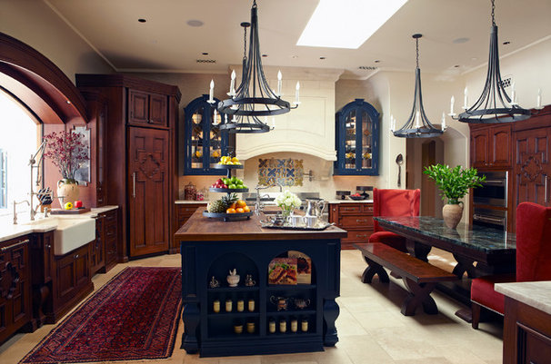Mediterranean Kitchen by Wendy Black Rodgers Interiors