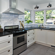 Transitional Kitchen by Kerr Construction