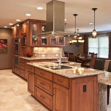 Transitional Kitchen by Custom Cupboards