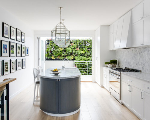 transitional kitchen design. Inspiration For A Transitional Kitchen In Melbourne With An Undermount  Sink Shaker Cabinets White Houzz 50 Best Transitional Kitchen Pictures