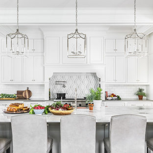 Large Transitional Eat In Kitchen Designs