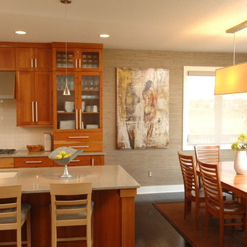 Transitional Kitchen and Dining