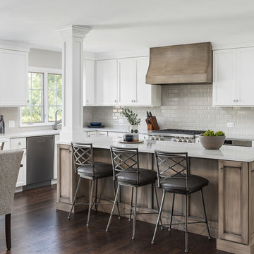Transitional Kitchen and First Floor Flock Remodel - Naperville