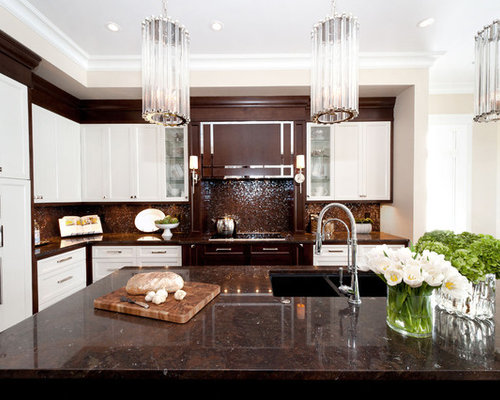 Brown And White Kitchen Home Design Ideas Pictures