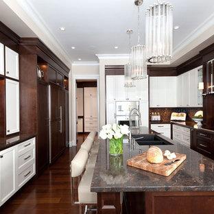 Brown And White Kitchen Houzz