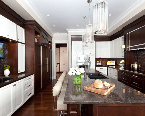 kitchen cabinets white and brown white and brown kitchen houzz 21370