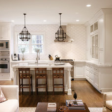 Transitional Kitchen by Barbara Brown Photography