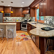 Transitional Kitchen by Boyer Building Corporation