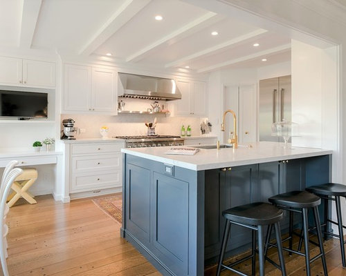 Mid Sized Transitional Eat In Kitchen Designs   Mid Sized Transitional  Medium Tone