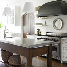 Transitional Kitchen by Carter Kay Interiors