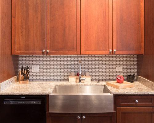 glazed thin brick kitchen design ideas renovations