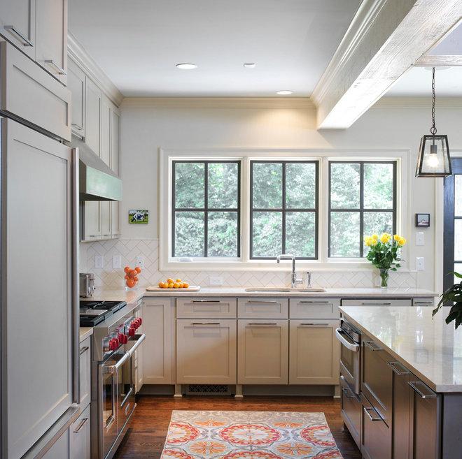 Transitional Kitchen by Clark & Zook Architects, LLC