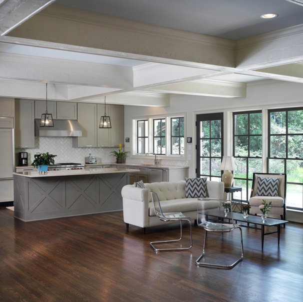 Transitional Kitchen by Clark & Zook Architects, LLC